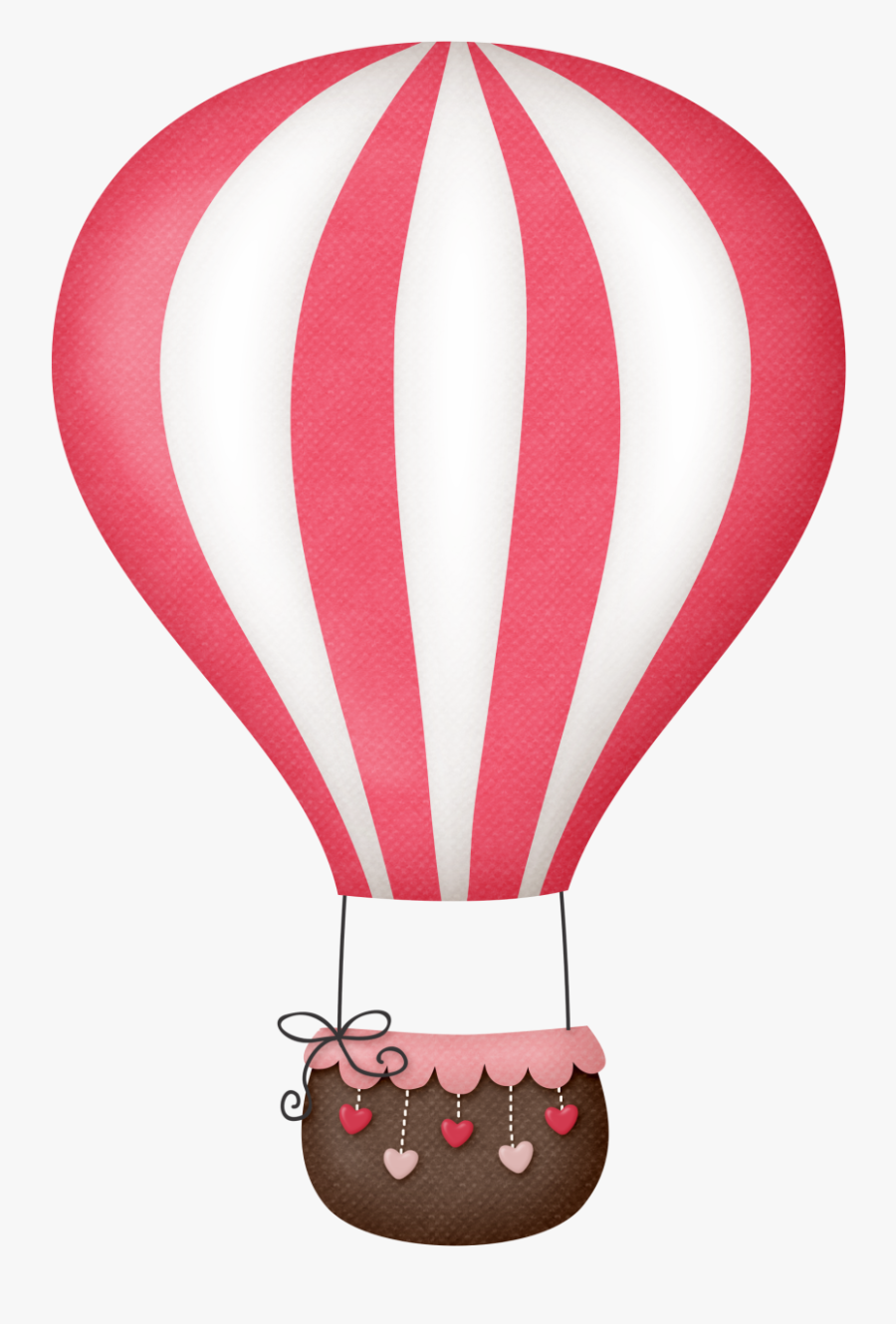 Sky With Sun And Hot Air Balloons Clipart - Pink Hot Air Balloon Clipart, Transparent Clipart