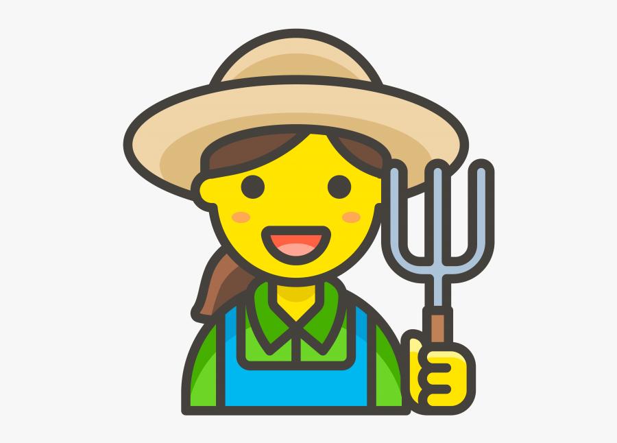 Woman Farmer Emoji - Farmer Icon Png, Transparent Clipart