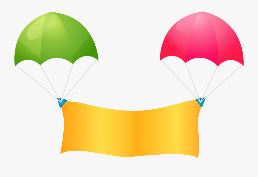 Web Banner Balloon Clip Art - Hot Air Balloon With Banner Clipart, Transparent Clipart
