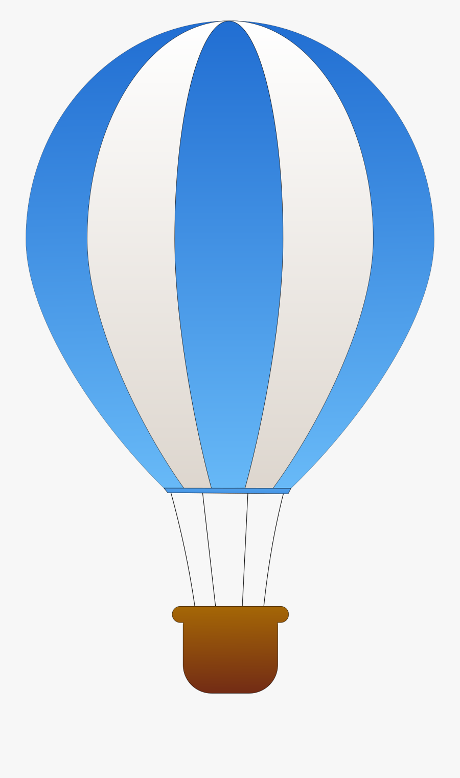 Vertical Striped Hot Air Balloons Icons Png - Blue And White Hot Air Balloon, Transparent Clipart