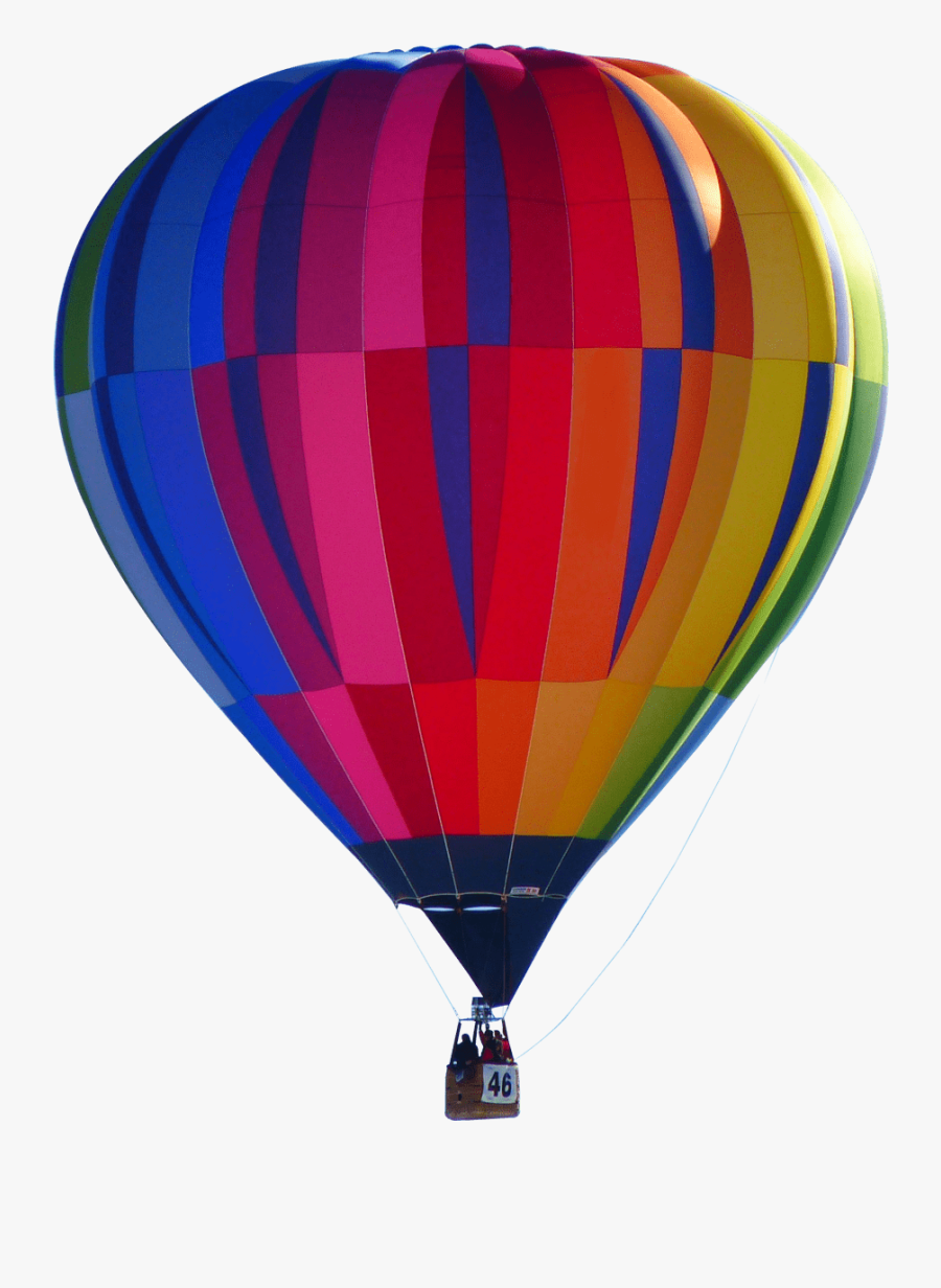 Sky With Sun And Hot Air Balloons Clipart - Hot Air Balloon Png, Transparent Clipart