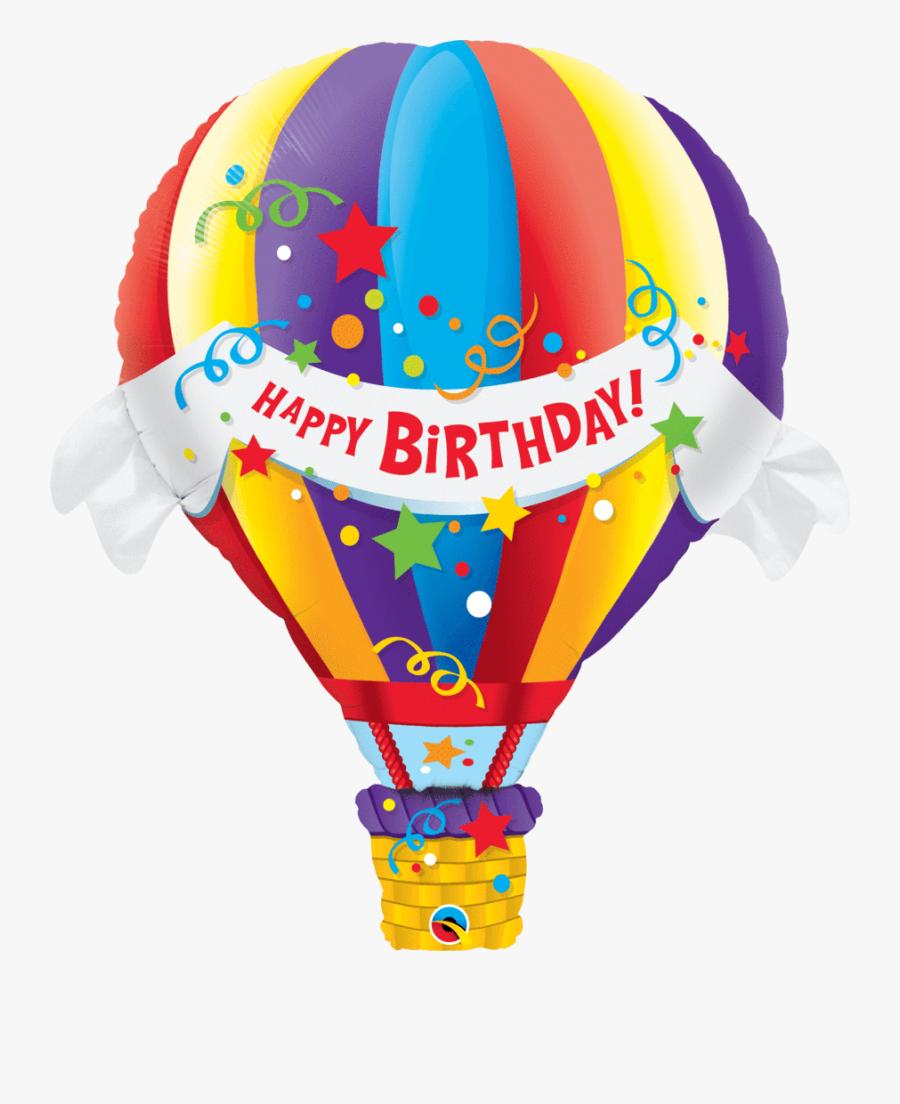 Hearts Clipart Hot Air Balloon - Hot Air Balloon Helium Balloon, Transparent Clipart