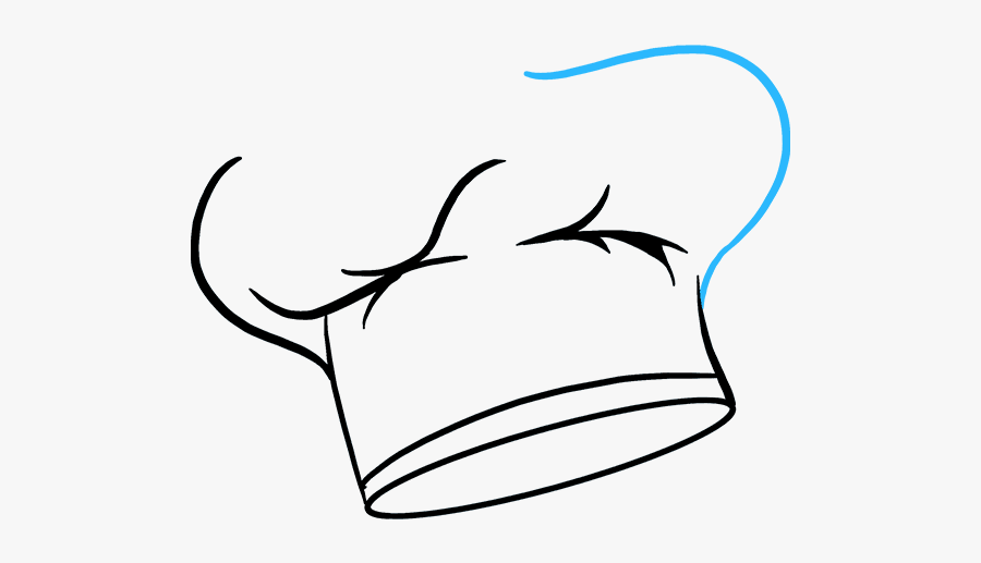 How To Draw A Chef Hat - Chef Hat Drawing Png, Transparent Clipart