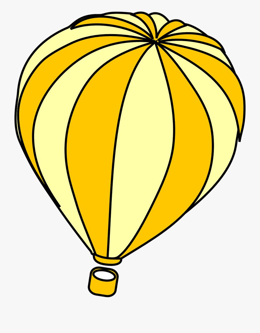 Hot Air Balloon Clip Art Moving - Hot Air Balloon Outline Png, Transparent Clipart