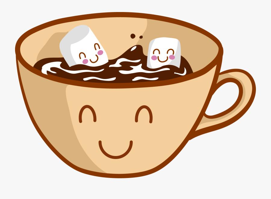 Cartoon Hot Chocolate With Marshmallows, Transparent Clipart