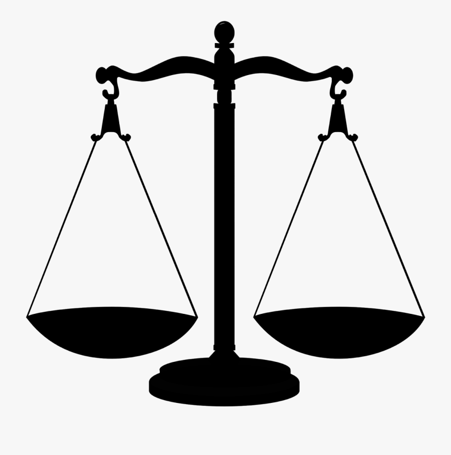Silhouette Scales Justice Free Picture - Scales Of Justice Gif, Transparent Clipart