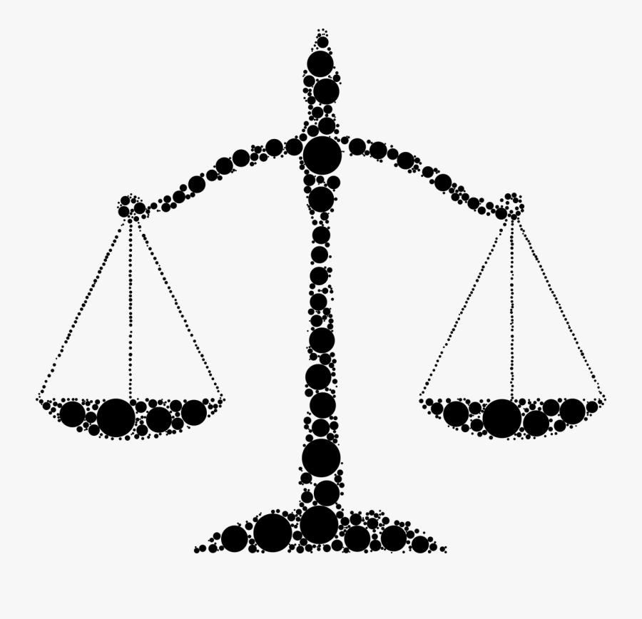 Justice Scales Law Free Picture - Derecho Silueta, Transparent Clipart