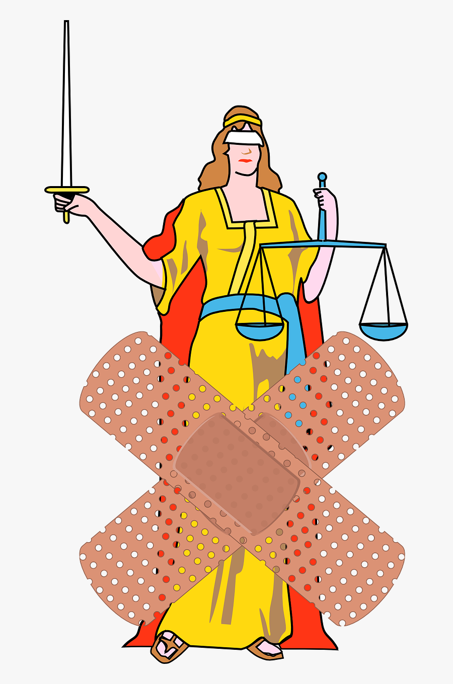 Justice Court Fairness Free Picture - Lady Justice With Color, Transparent Clipart