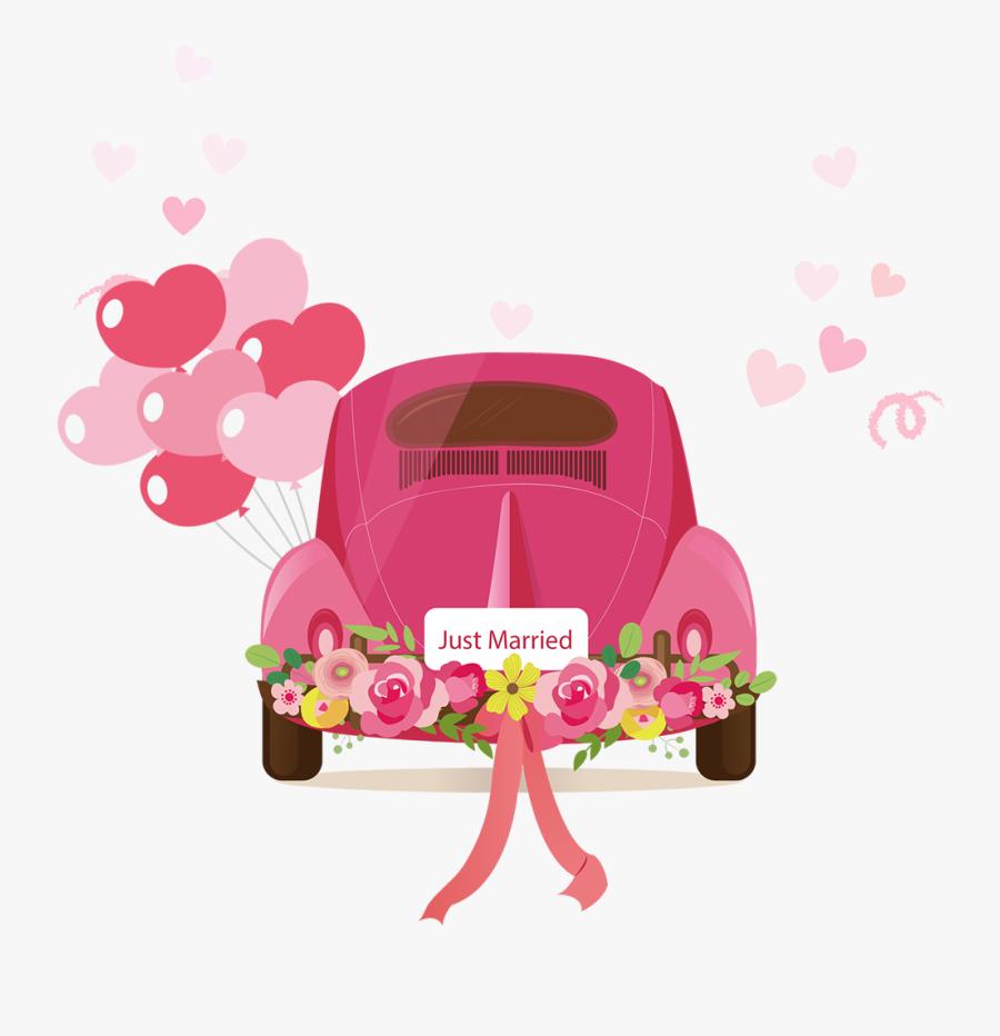 Wedding Invitation Marriage - Wedding Car Cartoon, Transparent Clipart