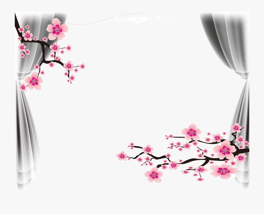 #frame #wedding #invitation #flowers #curtam #wallpaper - Wedding Frame Invitations Png, Transparent Clipart