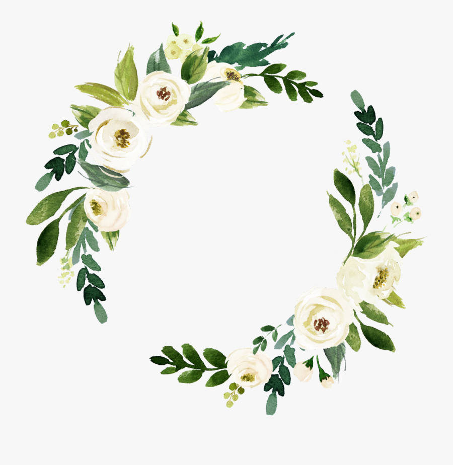 #white Flowers #wedding #invite #freetoedit #overlay - Watercolor White Flowers Transparent, Transparent Clipart