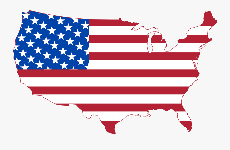 United States Outline Flag, Transparent Clipart