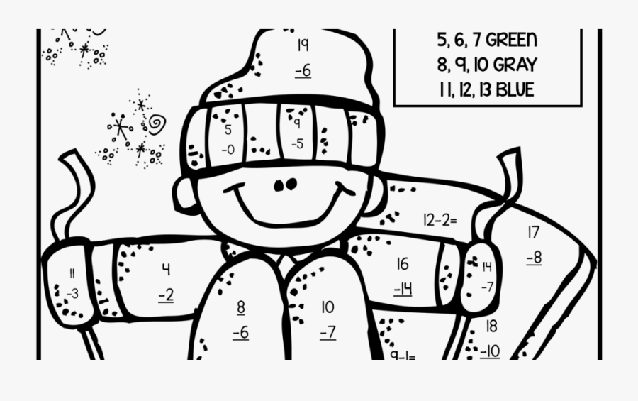 Coloring For Kids 2nd Grade Halloweenagesrintable Sight - Subtraction Coloring Pages 2 Grade, Transparent Clipart