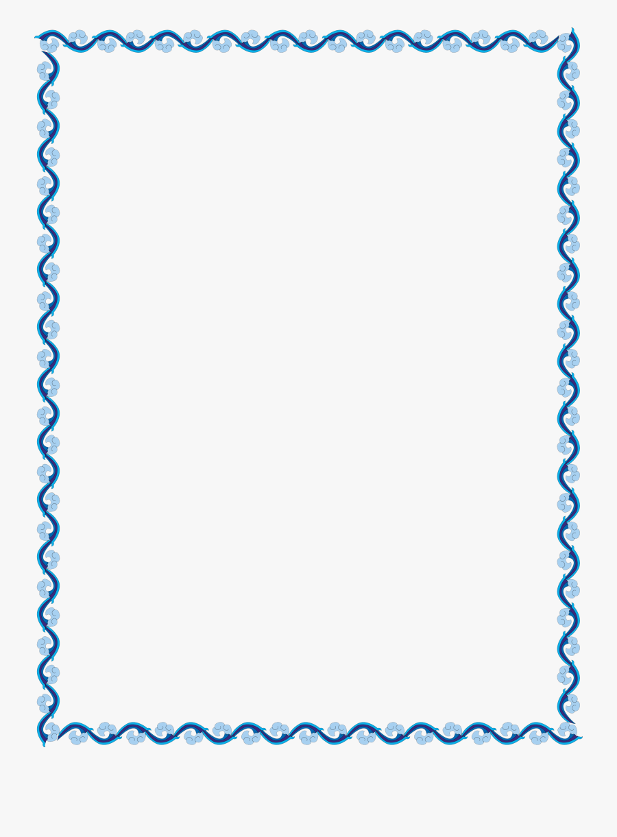 Clip Art Collection Of Free Transparent - Simple Border Design Blue, Transparent Clipart