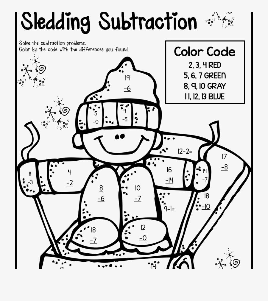 Coloring For Kids 2nd Grade Halloweenagesrintable Sight - Coloring Subtraction Worksheets For 2nd Grade, Transparent Clipart