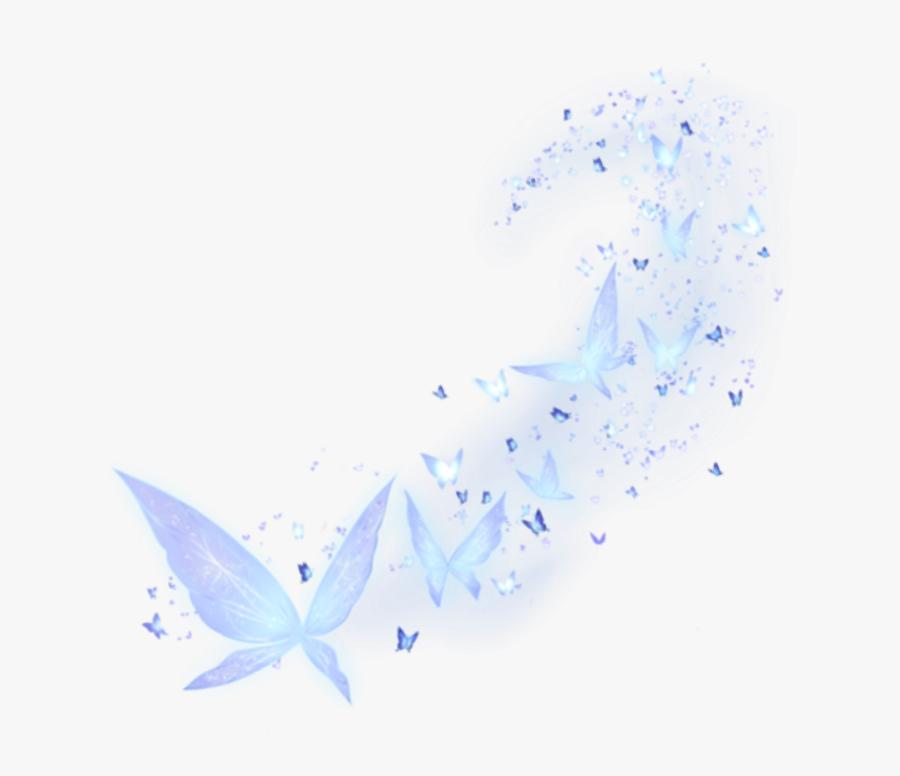Light Blue Butterfly Png Transparent, Transparent Clipart