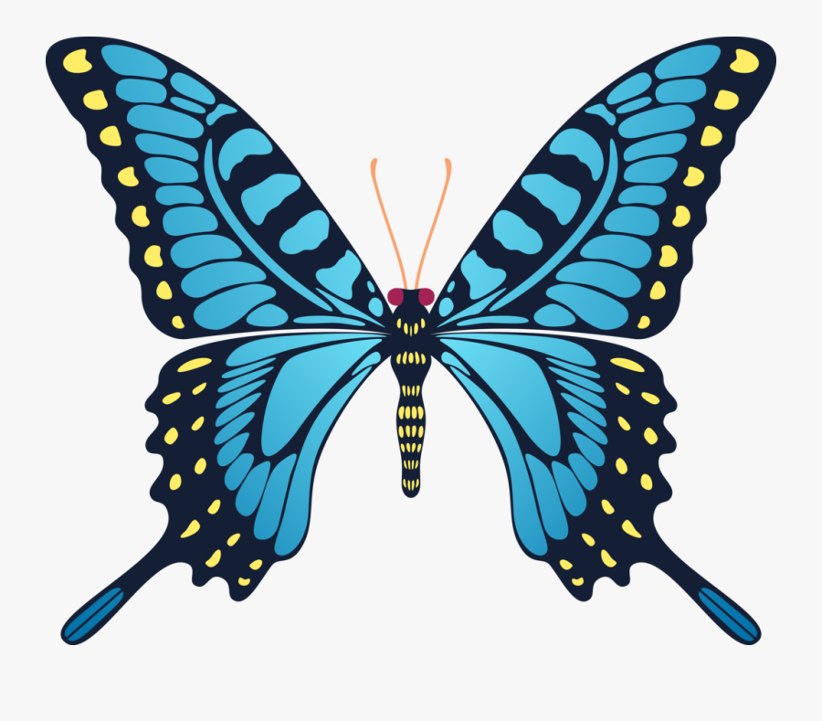 Transparent Yellow Butterfly Clipart - Gif Animation Butterfly Flying, Transparent Clipart