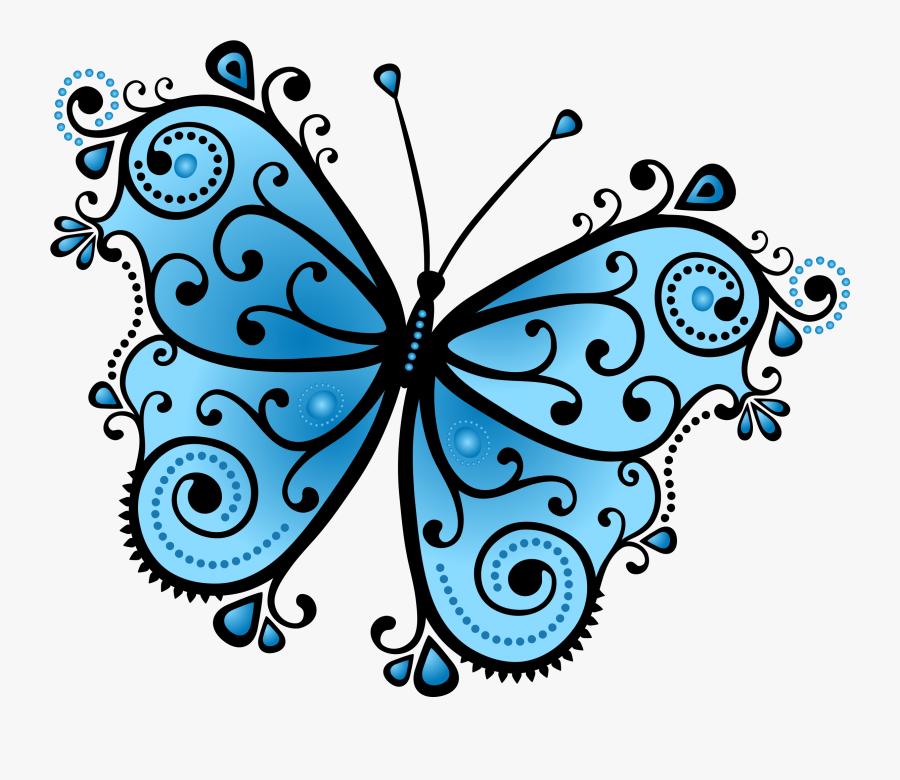Clip Art Drawing Transprent - Butterfly Blue Png Design, Transparent Clipart