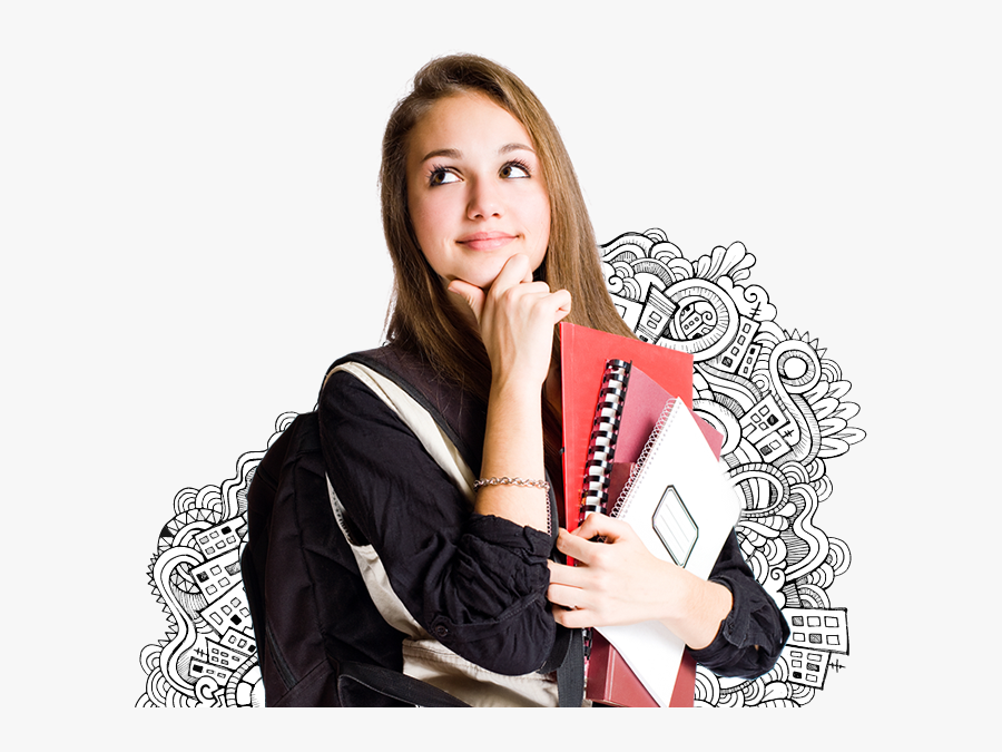 College Girl Png Hd, Transparent Clipart