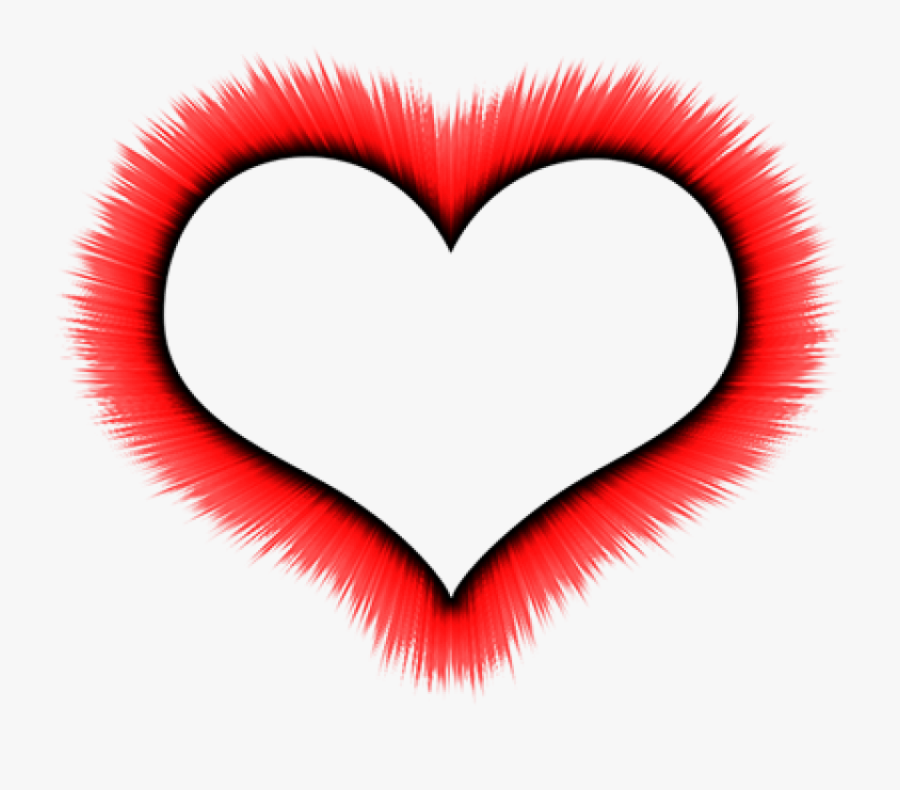 Free Png Red Border Frame Png Images Transparent - Heart Frame Transparent Background, Transparent Clipart