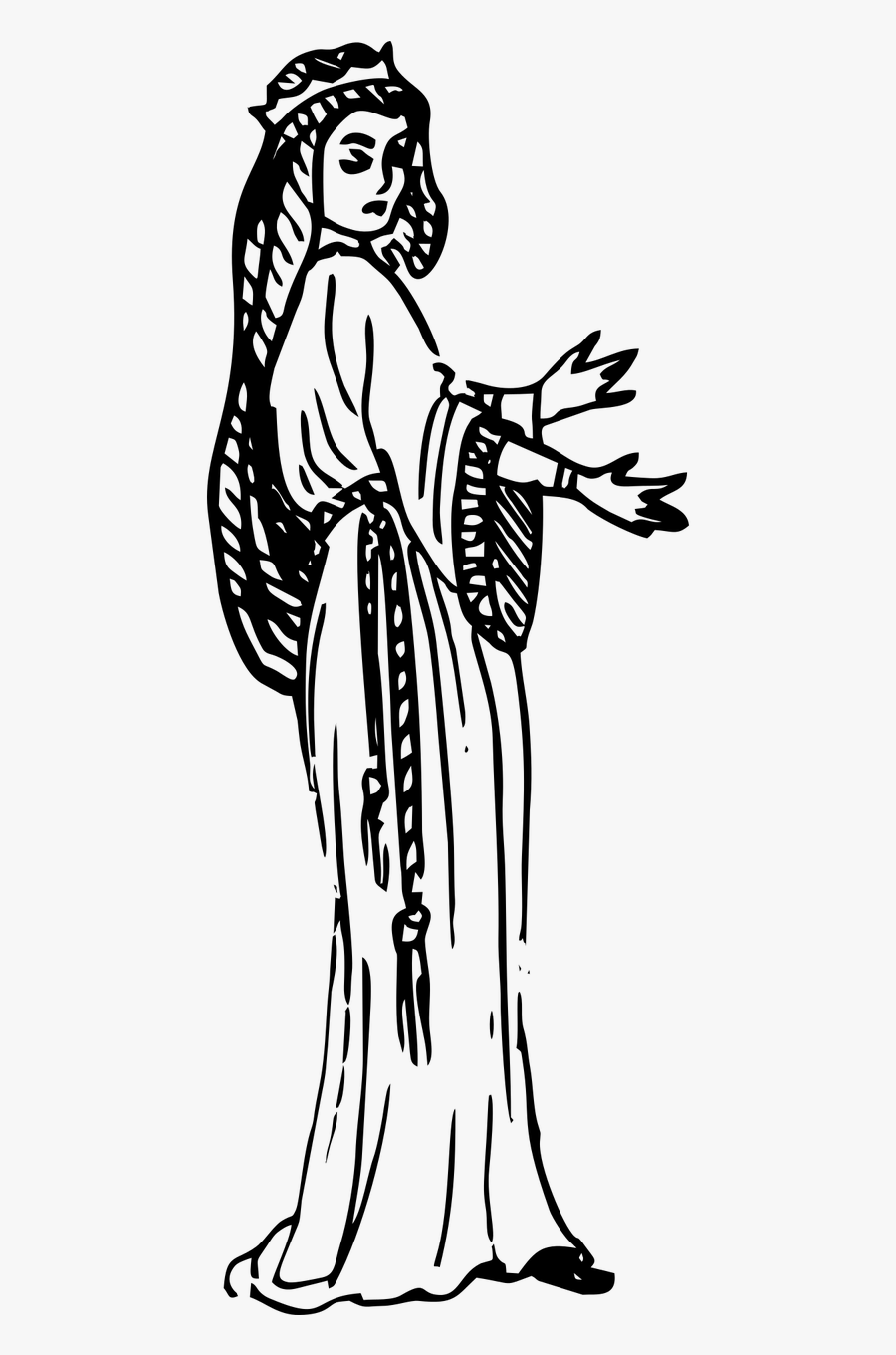 Lady Drawn Lady Macbeth Line Drawing Free Transparent Clipart Clipartkey