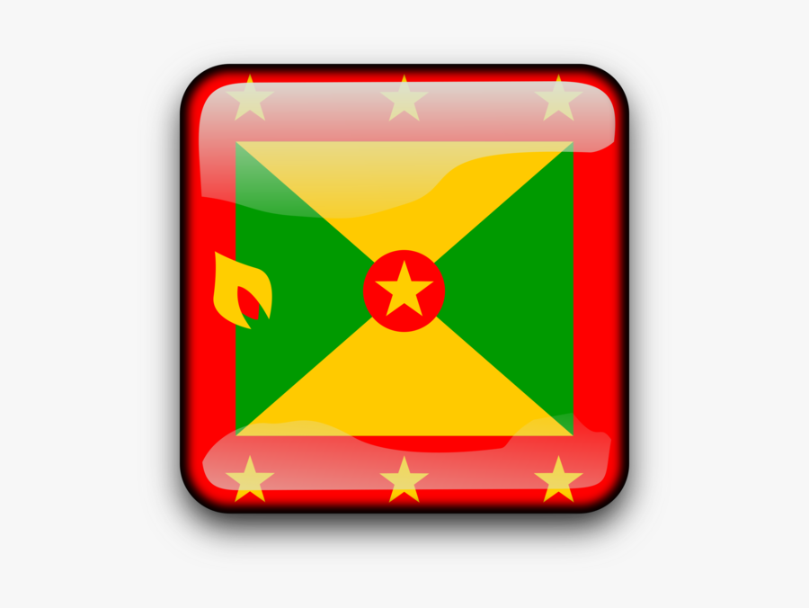 Symbol,rectangle,yellow - Grenada Bandana Flag, Transparent Clipart