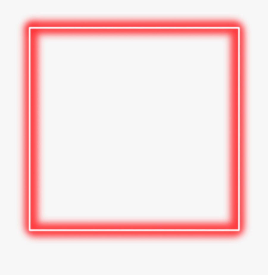 Red Neon Square Border Png Freetoedit Neon Square - Transparent Red Neon Png, Transparent Clipart