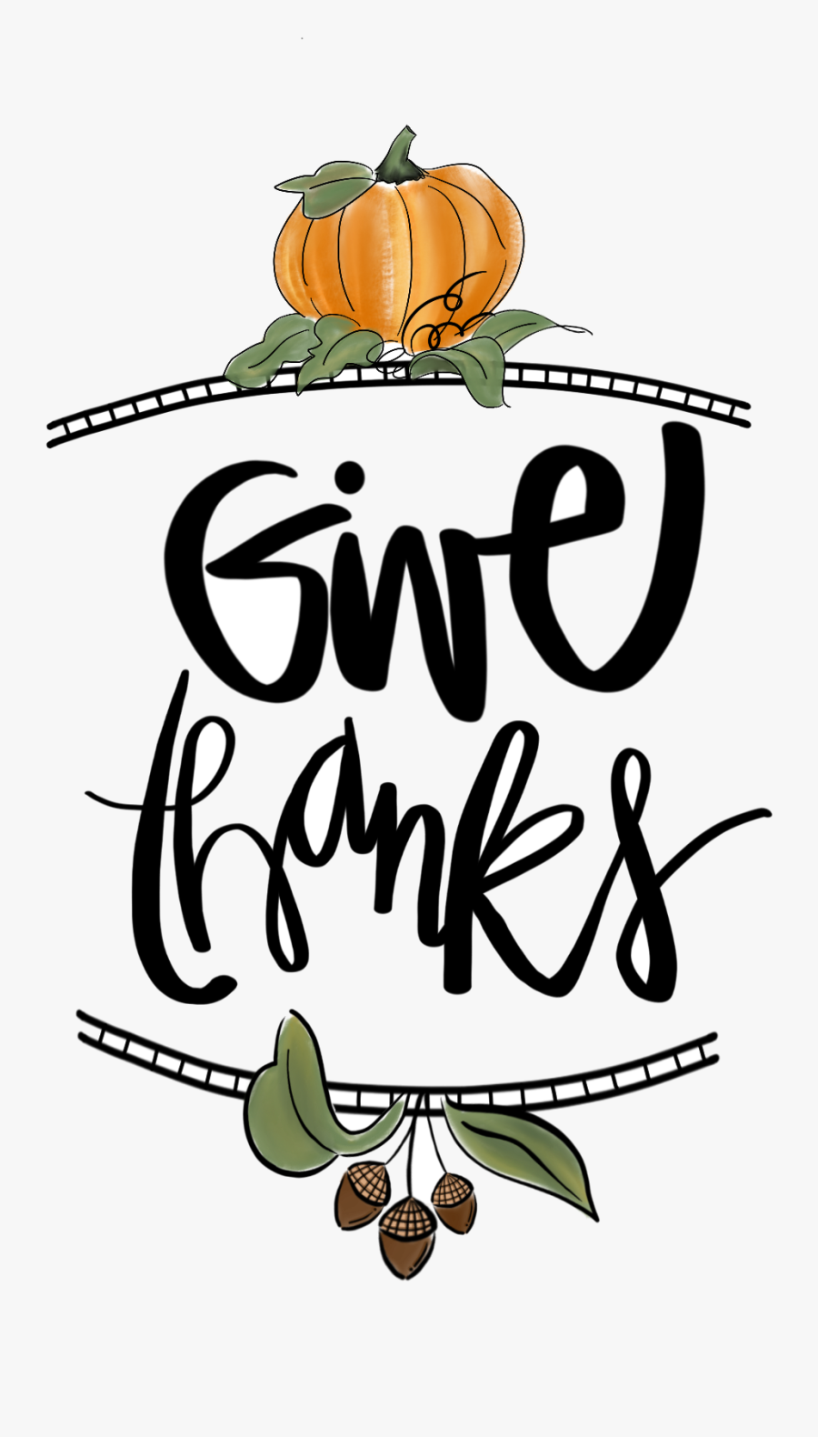 November Clipart To Printable Transparent Png - Transparent Give Thanks Clipart, Transparent Clipart