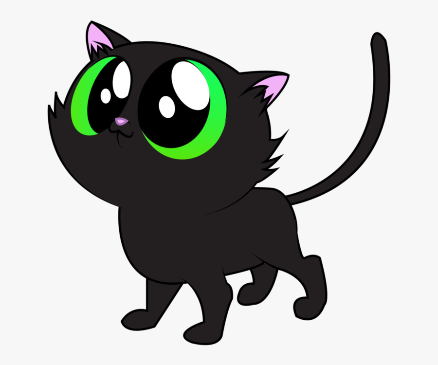 Black Cat Vector By Aquaticneon - Black Cats Vector Png, Transparent Clipart