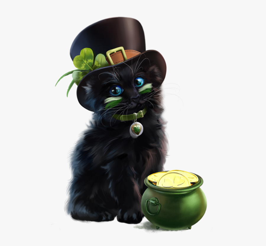 Cats St Patricks Day, Transparent Clipart