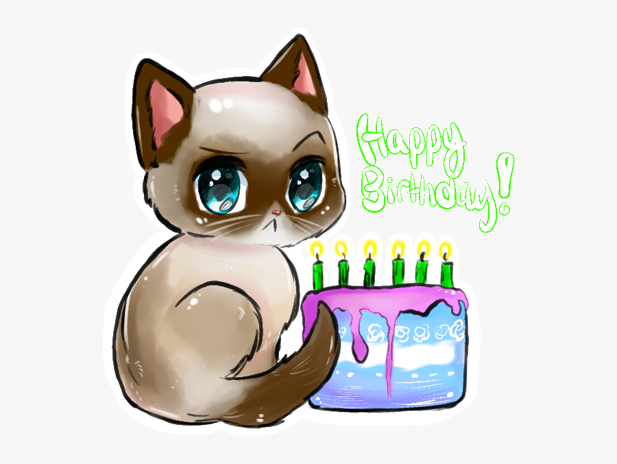 Birthday Frame Cat Clipart, Transparent Clipart