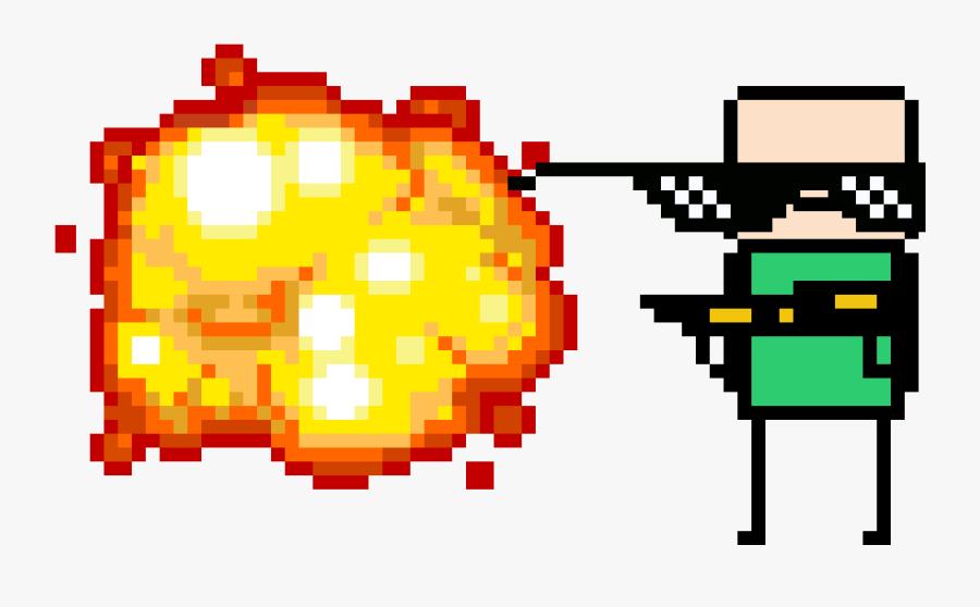 Flamethrower Due Mlg - Explosion Pixel Png, Transparent Clipart