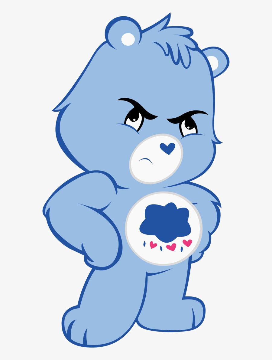 Care Bear Clip Art With Photos Medium Size - Angry Care Bear, Transparent Clipart