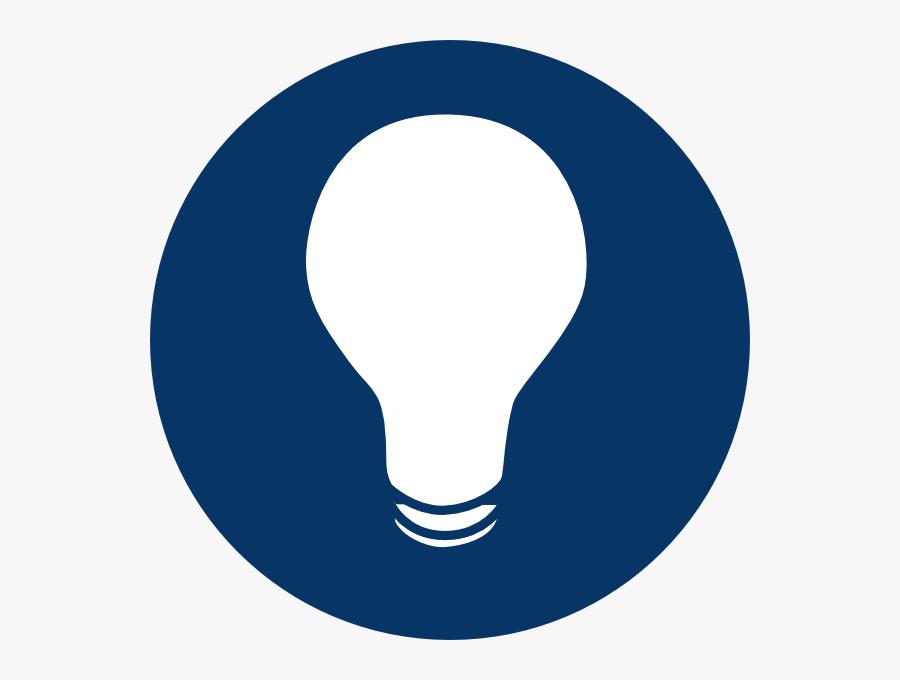 Bulb Clipart Dark Light - Dark Light Bulb Icon, Transparent Clipart