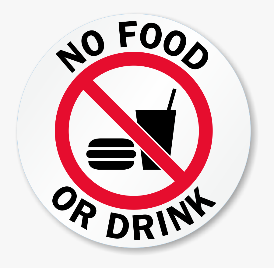 No Food Or Drink Glass Door Decal Signs, Sku - Food And Drinks Allowed Sign, Transparent Clipart