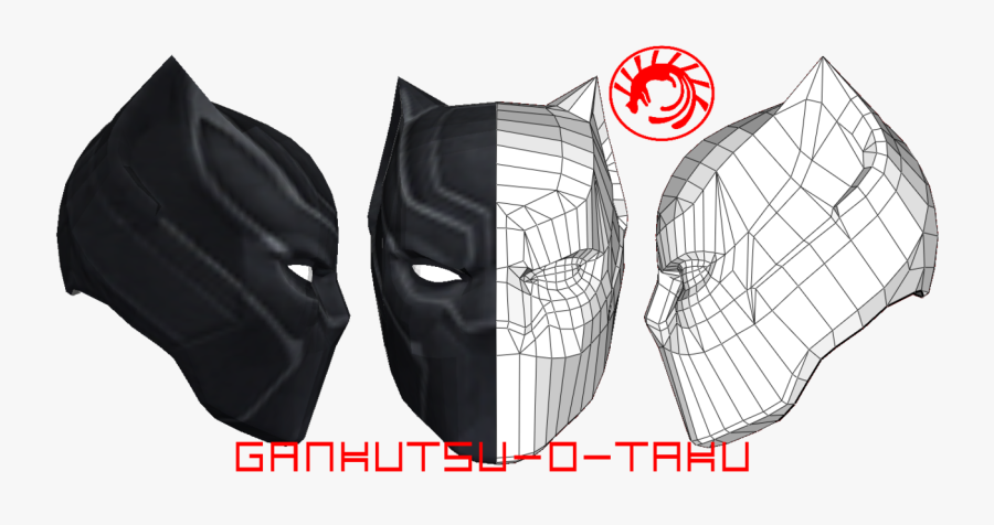 Batman Mask Template Pepakura - Mask, Transparent Clipart