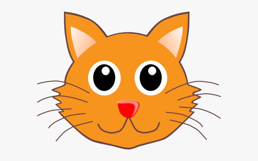 Cat Clipart Whiskers - Clip Art Cat Face, Transparent Clipart