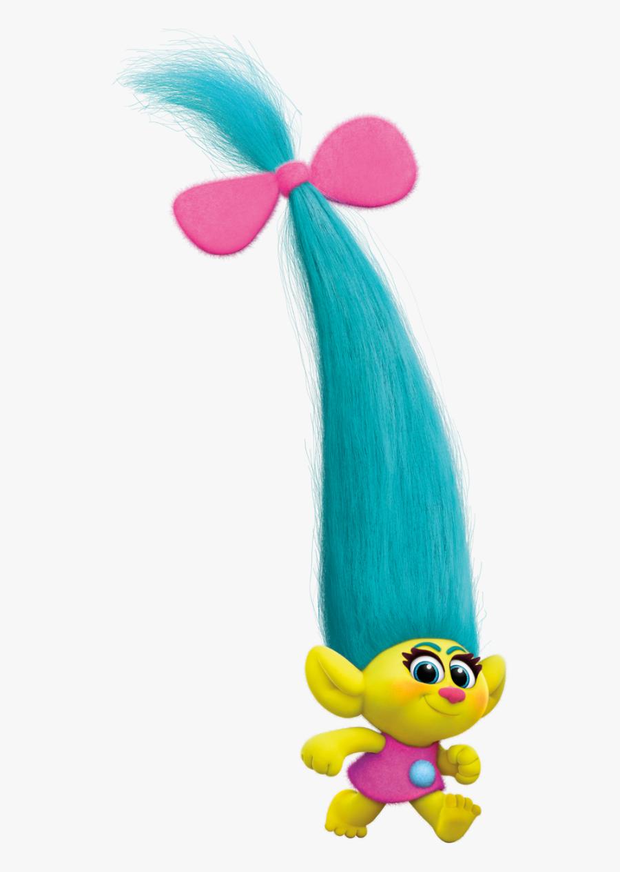 #troll #doll #trolls #cute #blue #hair #ftestickers - Trolls Smidge, Transparent Clipart