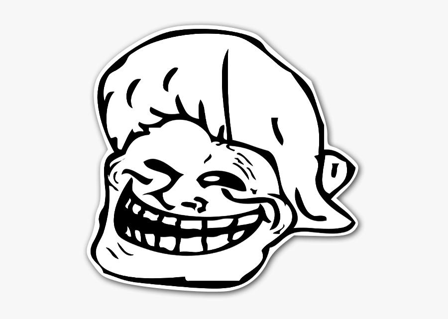 Gif Jumping Troll Face - Grandma Troll Face, Transparent Clipart