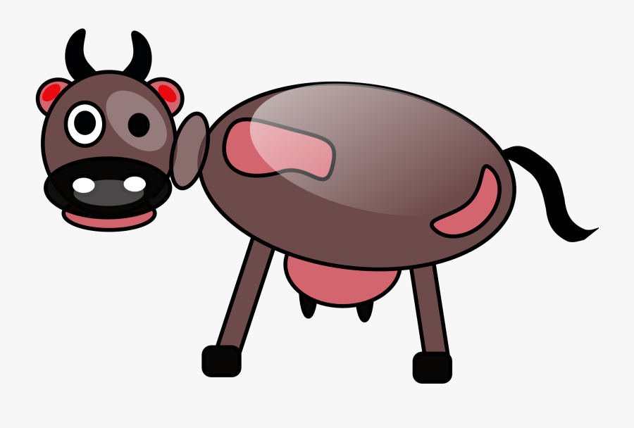 Pink,cartoon,snout - Cattle, Transparent Clipart