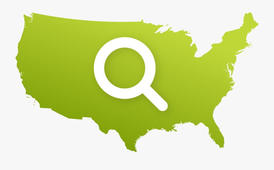 Transparent Us Map Png Clipart , Png Download - United States Outline Png, Transparent Clipart