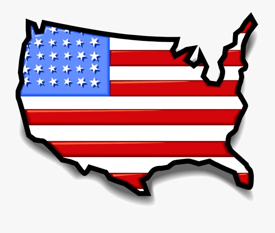 Usa Map Flag - United States Clipart, Transparent Clipart