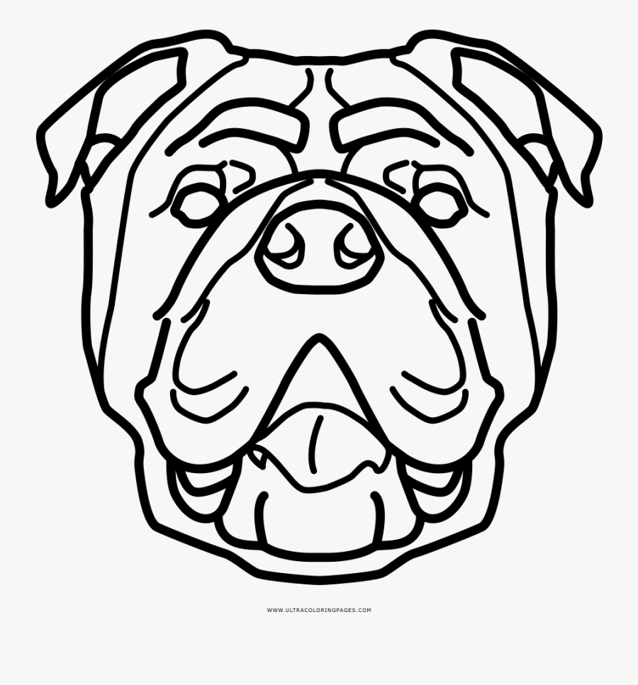 English Bulldog Different Kind Coloring Page, Printable - English Bulldog Icon Transparent, Transparent Clipart