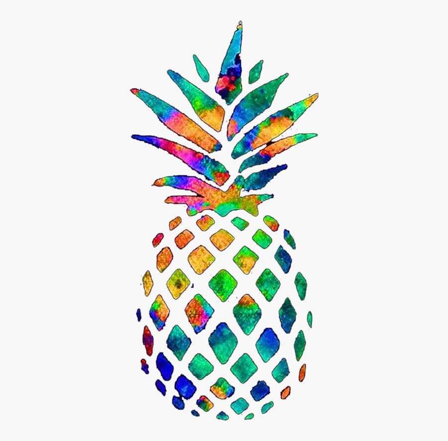 Transparent Gold Pineapple Clipart - Pineapple Redbubble Sticker, Transparent Clipart