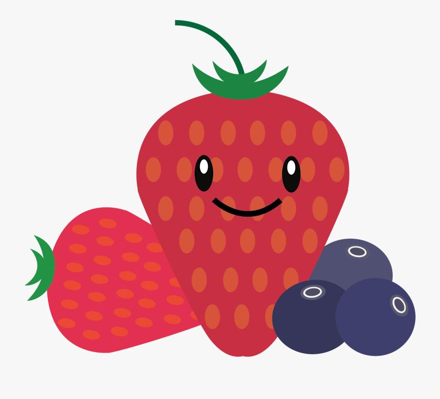 Pineapple Berries Watermelon - Cartoon Berries Transparent Background, Transparent Clipart