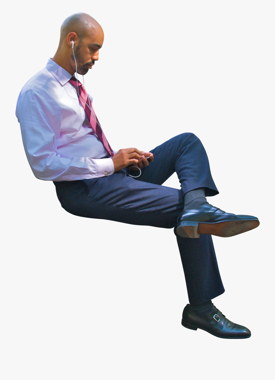 Clip Art Guy Sitting In Chair - People Cutout Sitting Png, Transparent Clipart