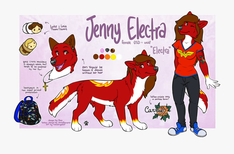 """Jenny Electra Is Totally Not The """"big Bad Wolf - Cartoon, Transparent Clipart"""