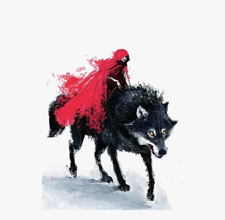 Big Bad Wolf Little Red Riding Hood Gray Wolf Drawing - Wolf Red Riding Hood, Transparent Clipart