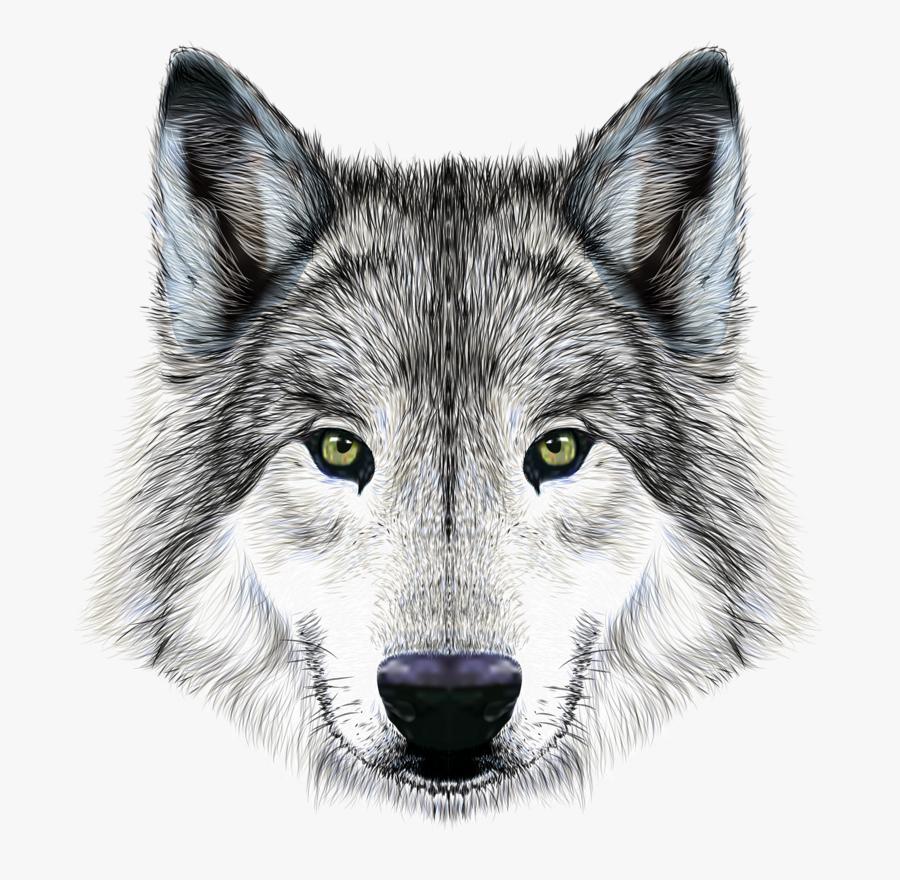 Transparent Big Bad Wolf Clipart - Wolf Head Png, Transparent Clipart