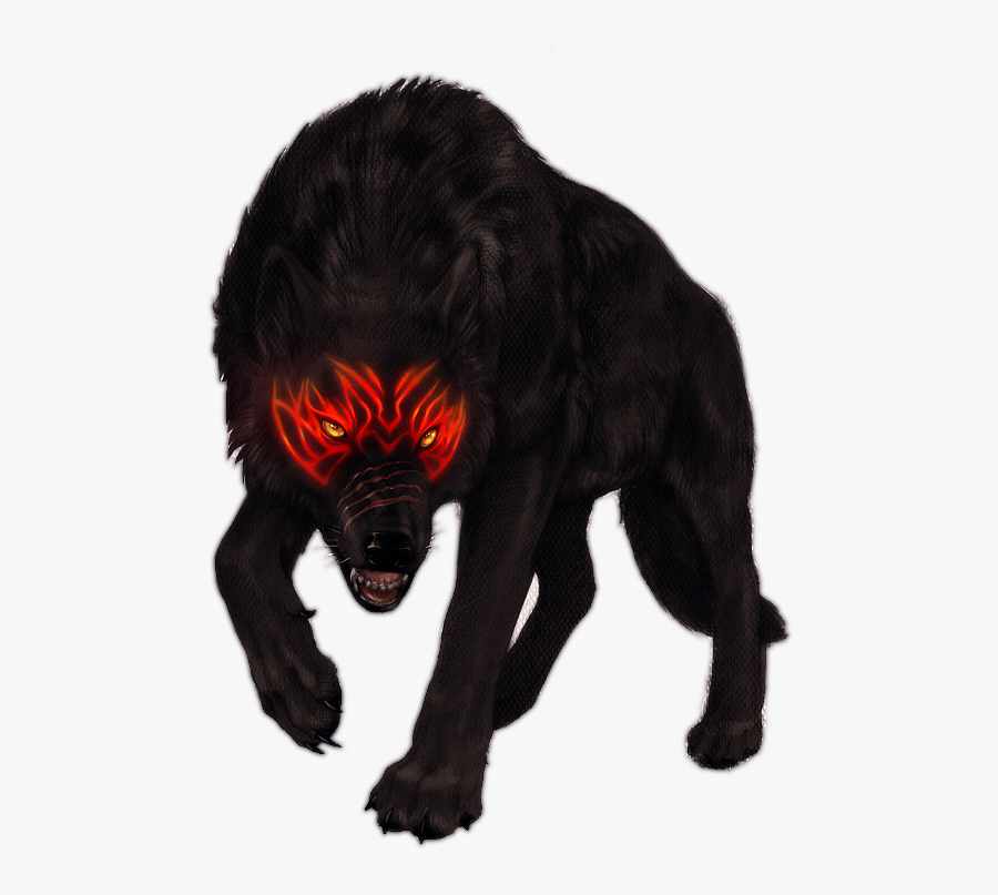 Transparent Big Bad Wolf Png - Free Clipart Black Wolf Transparent, Transparent Clipart